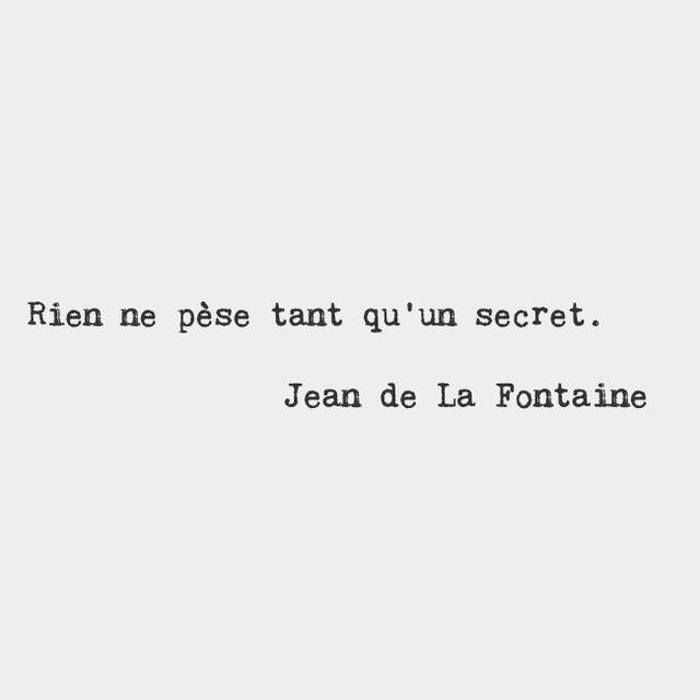 Nothing Weighs More Than A Secret Jean De La Fontaine French