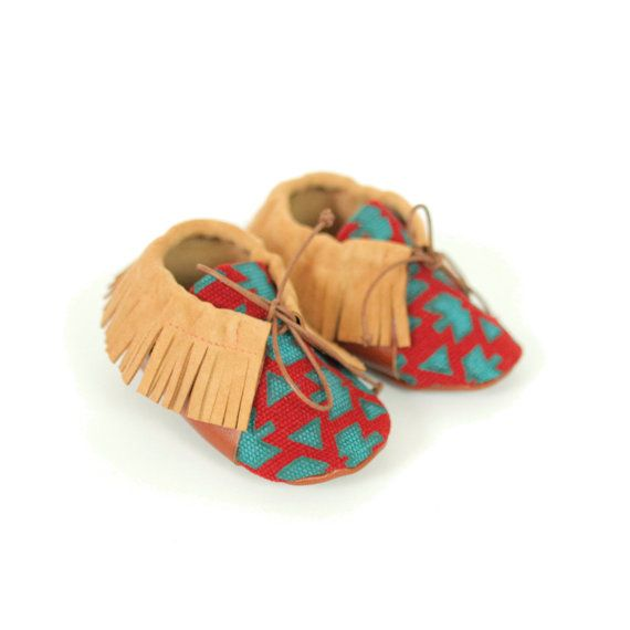 Red moccasins. From S.16 to S.24. by ANAAME on Etsy