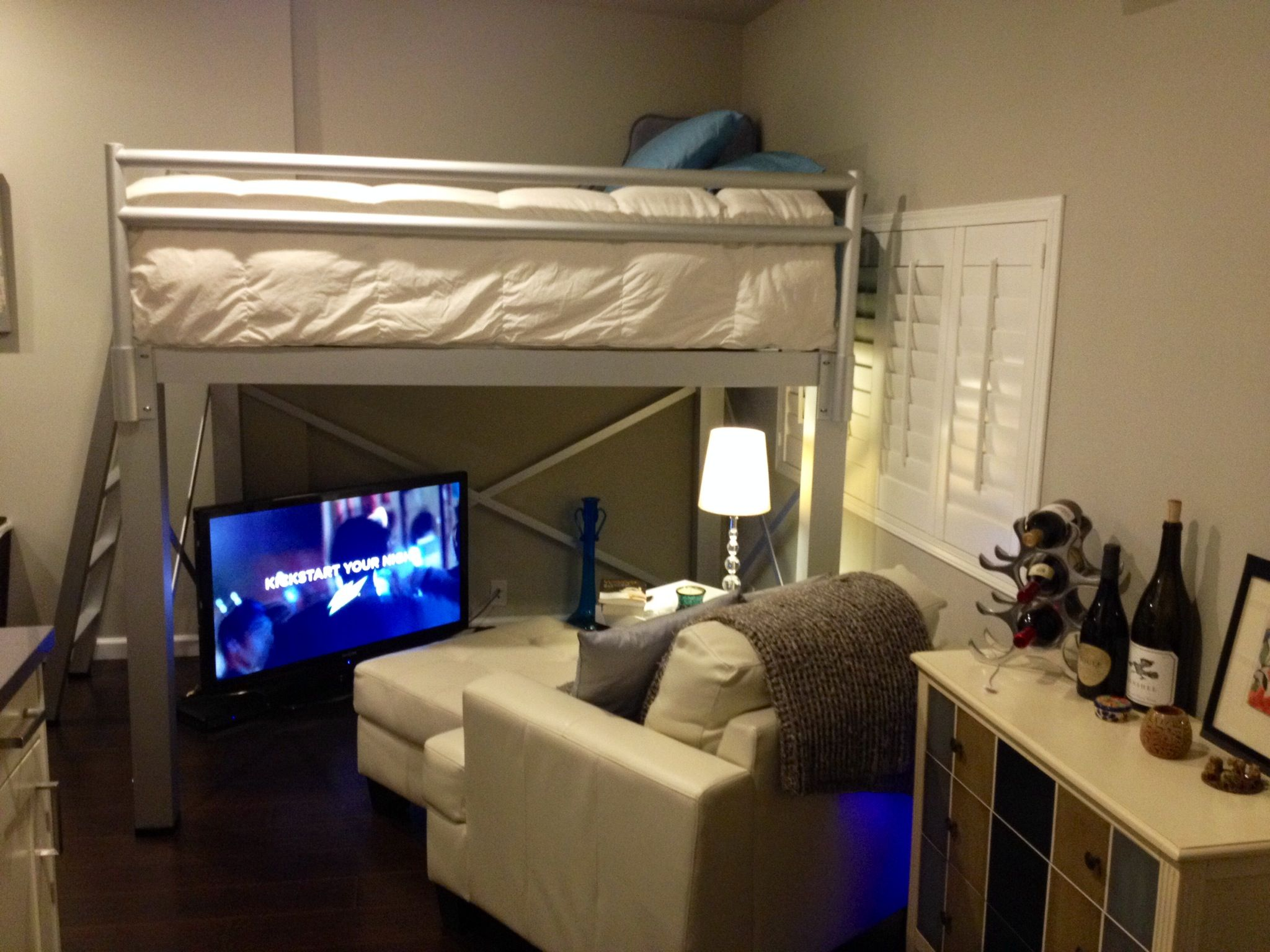 Beds For Studio Apartments Adult Loft Bed Is A Great Space Saver In A Small Studio
