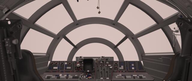 Stinson S All Things Star Wars Blog Millennium Falcon Millennium Falcon Star Wars Cockpit
