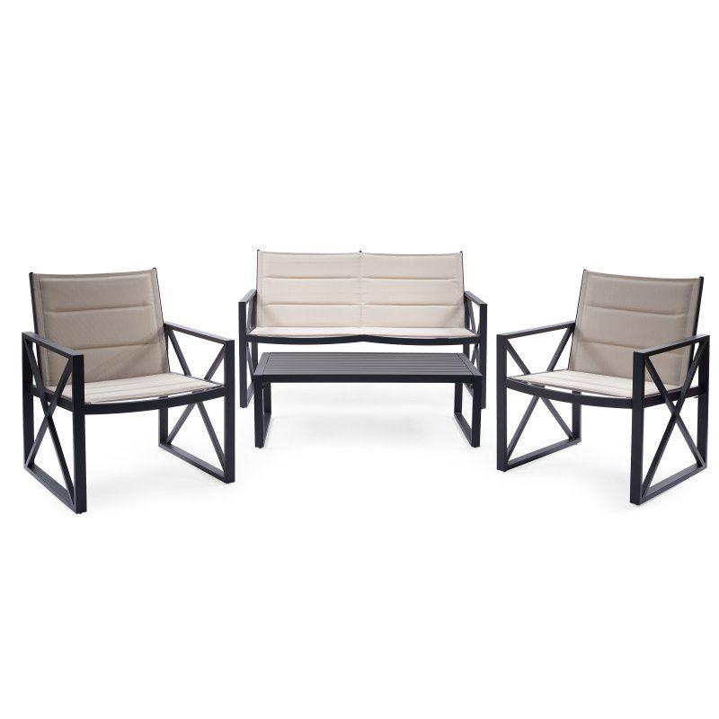 Outdoor Coral Coast Carano Steel 4 Piece Conversation Set