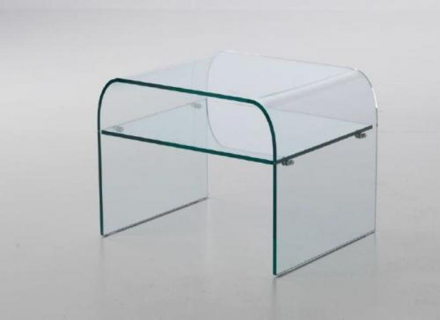 Tavolino Comodino ~ Tavolino comodino vetro curvato notte tavolini salotto
