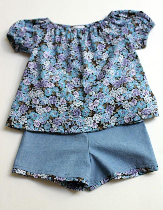 518d9b98b93e Girls 2 piece cotton Pajamas Handmade Summer Pajamas