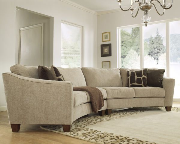 Curvaceous Beauty Curved Sectional Sofa Set In Classic Upholstery Couches Living Room Sectional Curved Sofa Couches Living Room