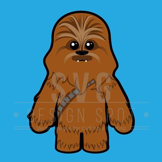 Star Wars Baby Chewbacca SVG Cute Chewie Wall Art Vector