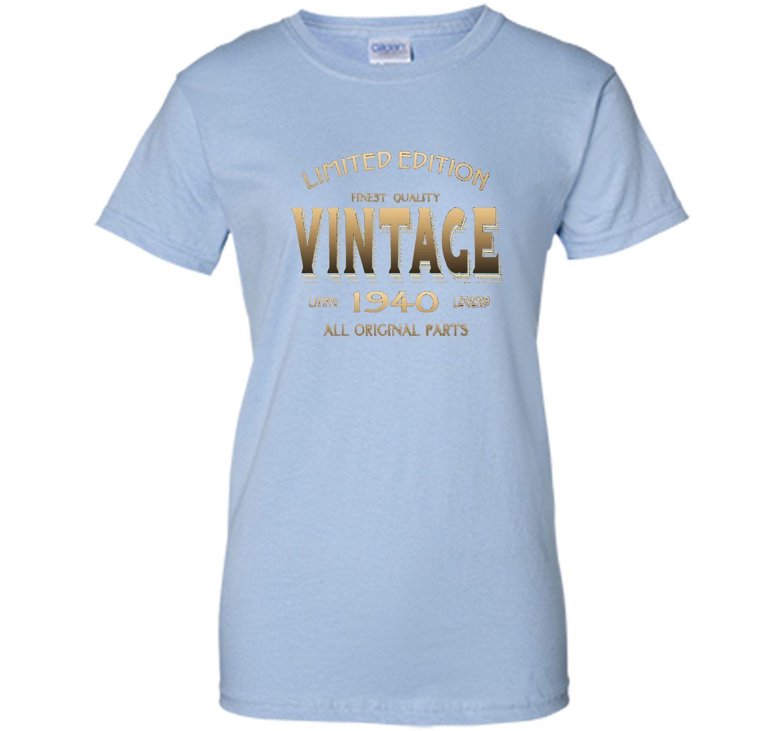 1940 T Shirt 77th Birthday Gift 77 Year Old B Day Present