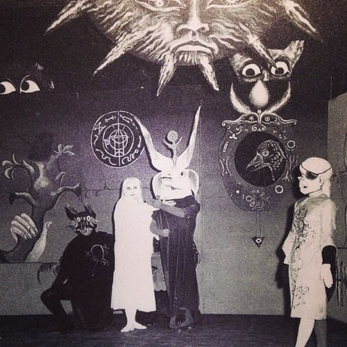 Collaboration work between painter Leonora Carrington & Alexandro Jodorowsky in Mexico, 1957.