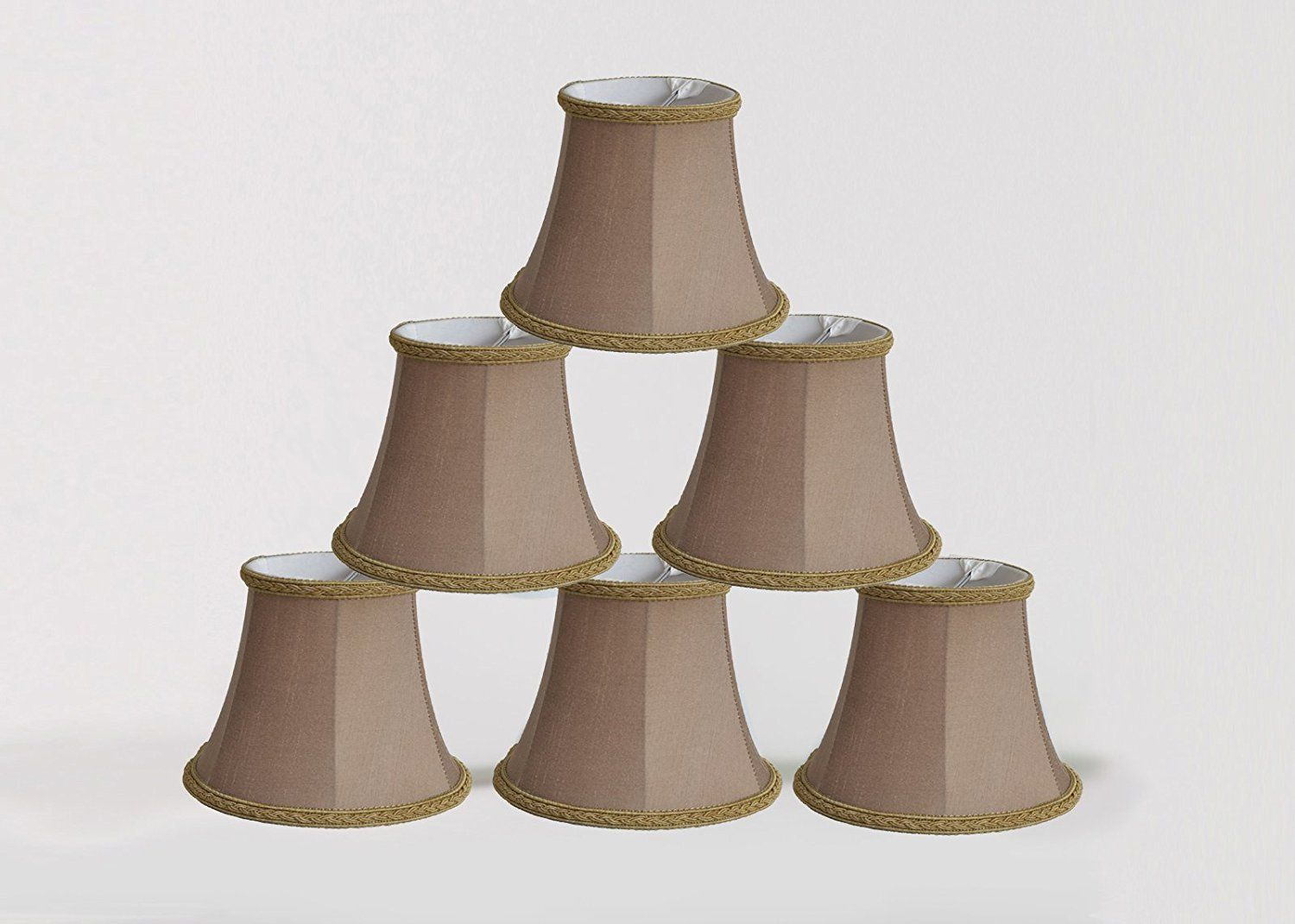 Urbanest 1100468c Set Of 6 Chandelier Mini Lamp Shade 5 Inch Bell Clip On Taupe Visit The Image Link More Details Affiliate Link Small Lamp Shades Lamp Shades Chandelier Shades