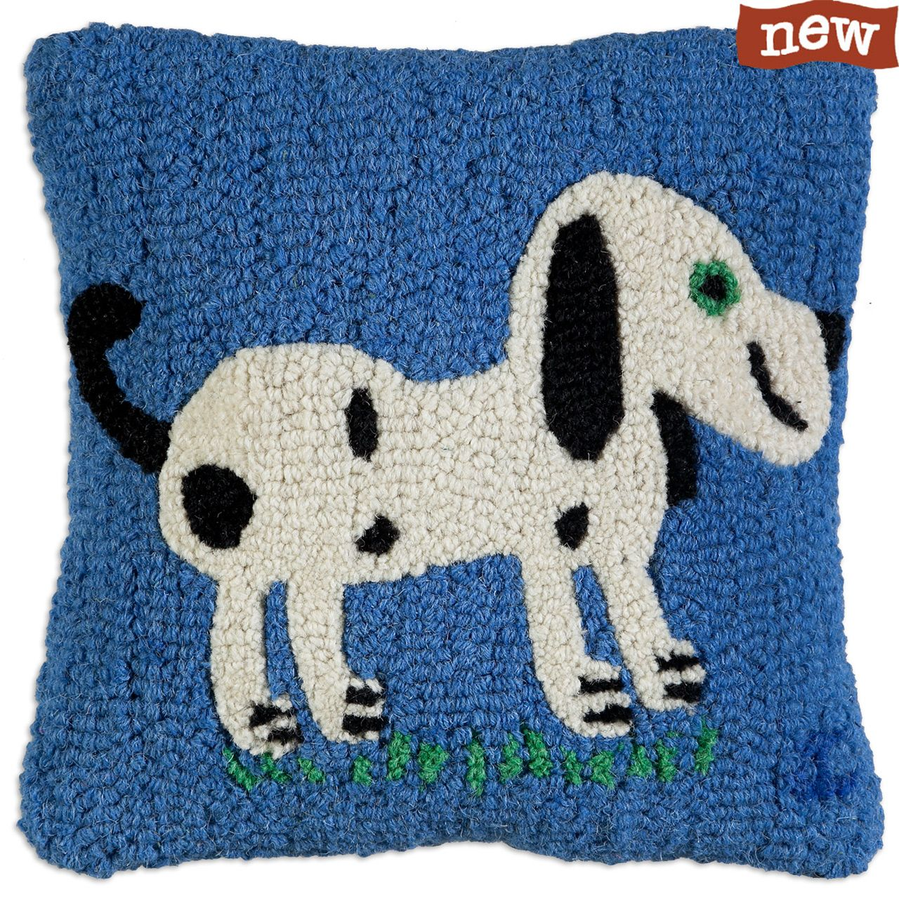 Dog Wool Hooked pillow by Chandler 4 Corners / Julya's Collection