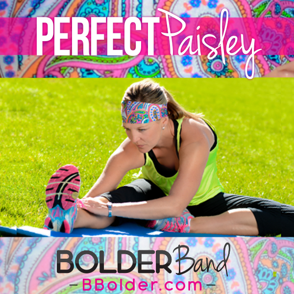 Bright and fun … and will do the job. That is what BOLDERBand headbands will do for you.