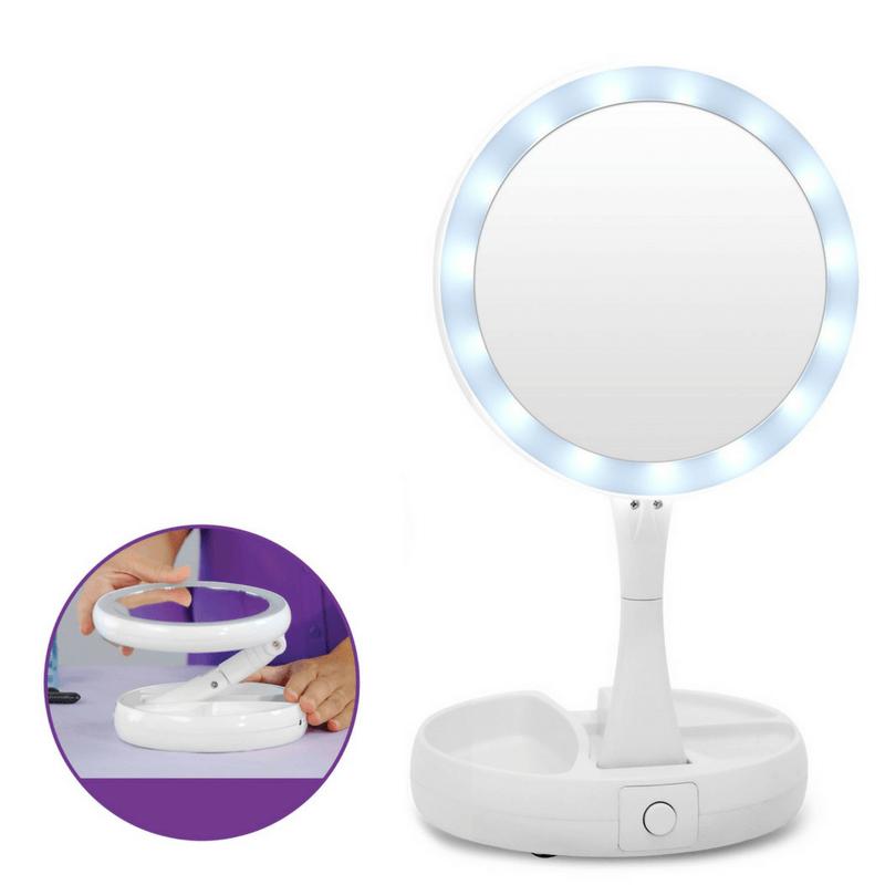 My Foldaway Mirror Lighted Vanity Mirror Led Makeup Mirror Mirror