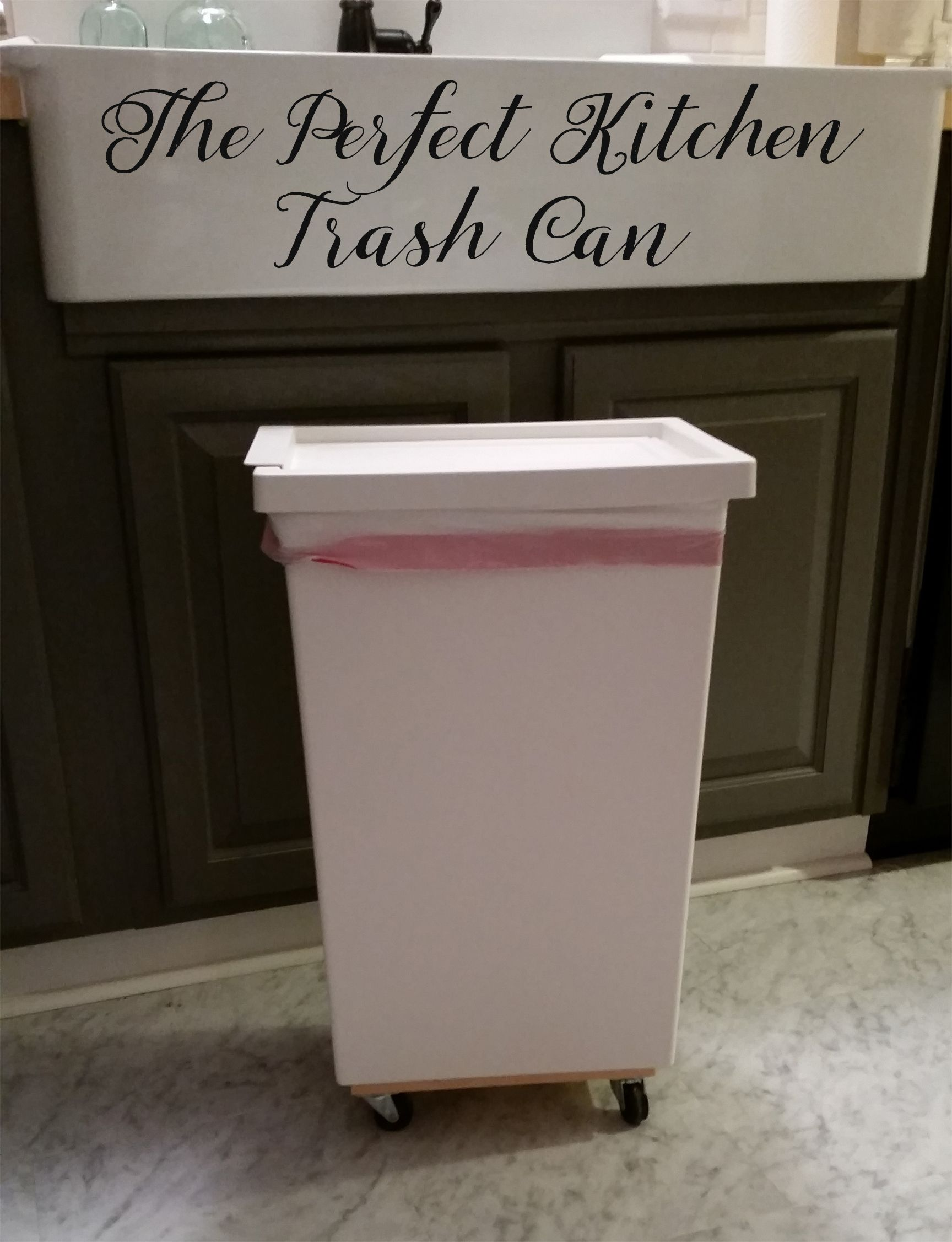 Rolling Trash Can Kitchen Trash Cans Trash Can Hidden Trash