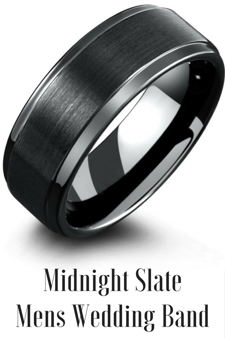 Nitro Black 8mm Width In 2020 Mens Wedding Bands Black Mens Wedding Bands Tungsten Tungsten Carbide Wedding Rings