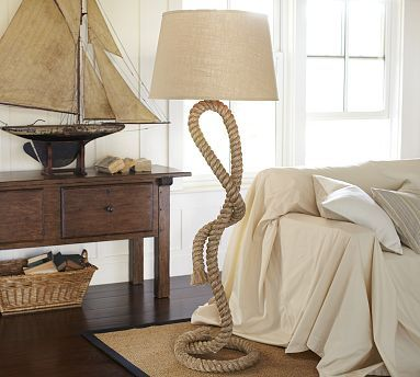 Add nautical flair to your decor with this rope floor lamp add nautical flair to your decor with this rope floor lamp potterybarn marine mozeypictures Gallery