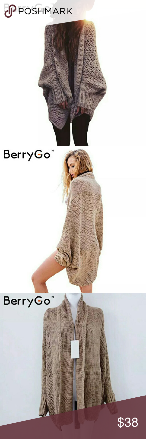 Oversized batwing sweater You will love this fantastic tan batwing ...
