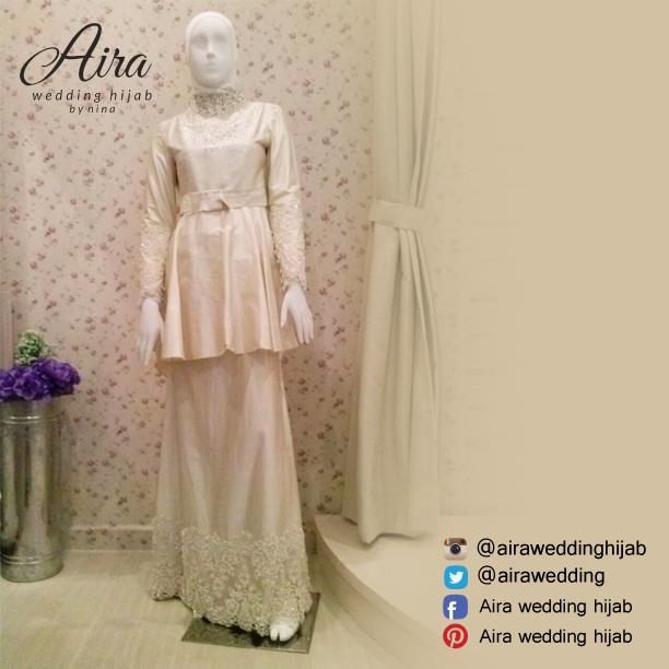 Weddingdress/5/2015/Airaweddinghijab #Airaweddingdress