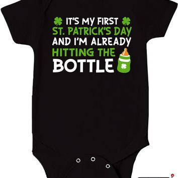 0c5f58caeaec First St. Patrick s Day Bodysuit Funny Baby Clothes Onepiece Gifts ...