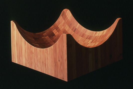 2002_ 'isola greca', a new wood version for 'aura' by enzo mari