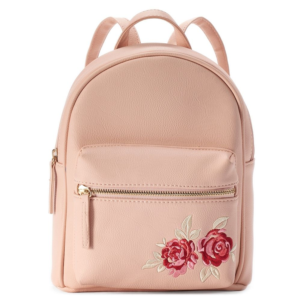 d5b6c25f45 OMG Accessories Rose Embroidered Mini Backpack in 2019