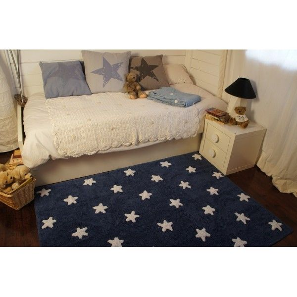 teppich washable baumwolle navy stars wei 120x160 von lorena canals zimmer junge pinterest. Black Bedroom Furniture Sets. Home Design Ideas