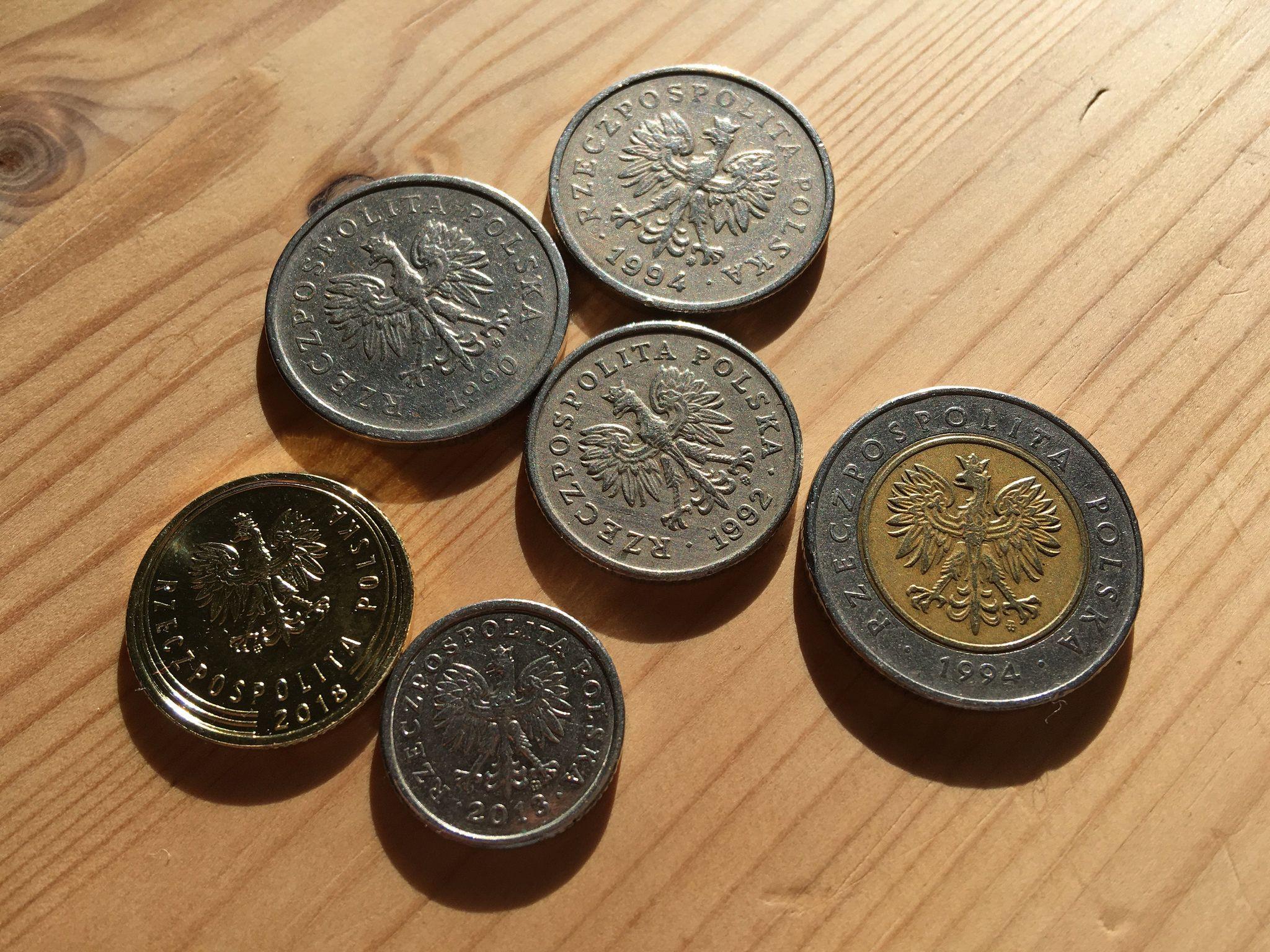 Польские монеты: злотый и гроши