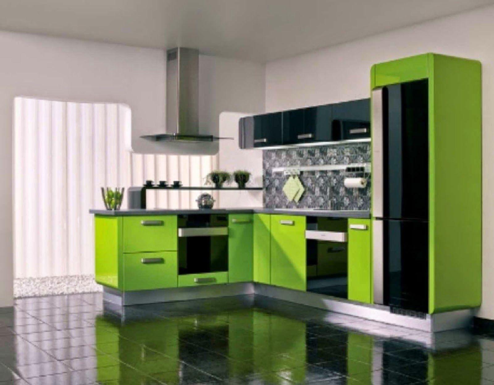 Inspirasi Desain Dapur Minimalis Warna Hijau Design Rumah