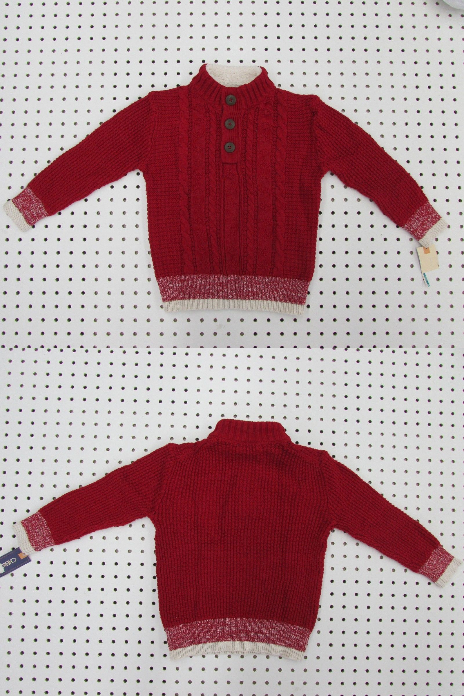 e2cc39211655 Sweaters 147338  Cherokee Toddler Boy S Red Velvet Sweater - Size 4T ...