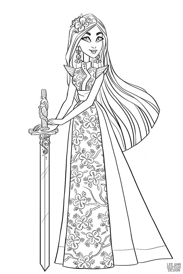 Раскраска Дисней Принцесса Мулан | Раскраски, Раскраски ...