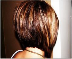 Medium Length stacked bob | Brunette Medium Length Hairstyles 2012