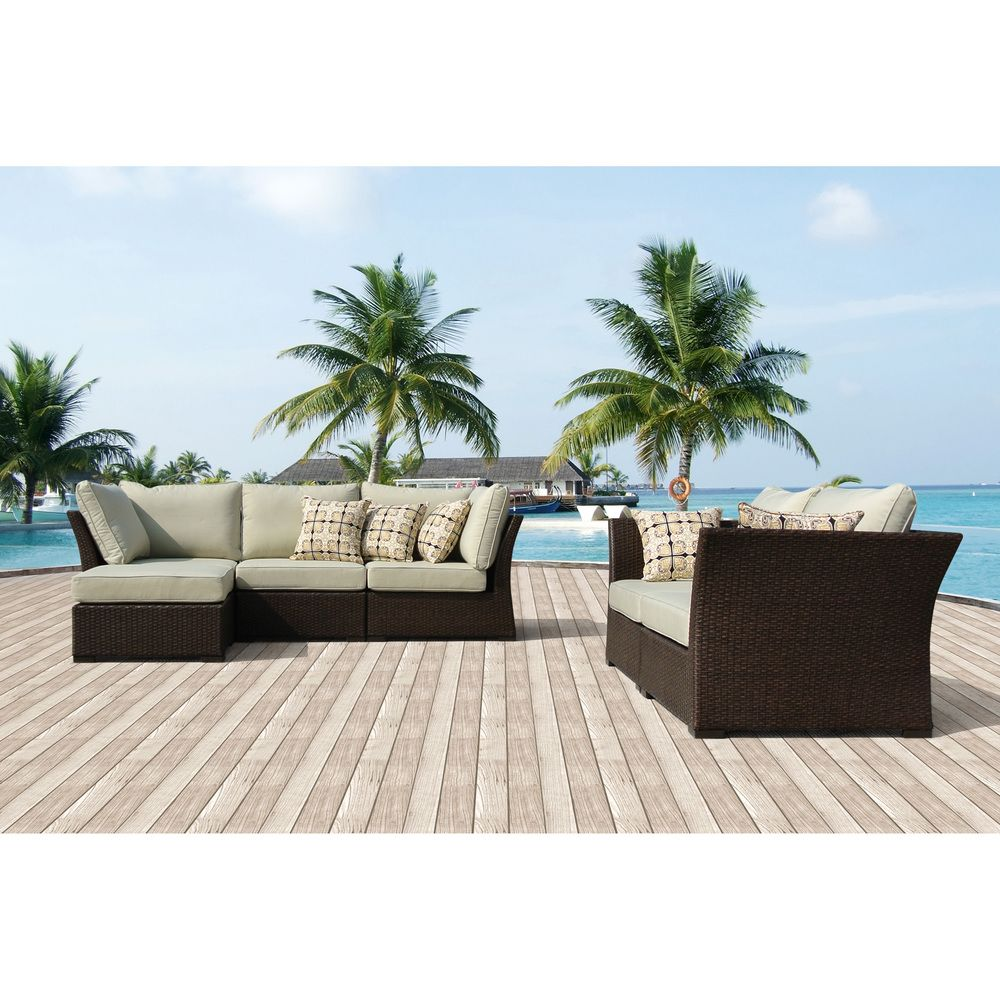 Oreanne 6piece Sorrel Wicker Outdoor Furniture Set with