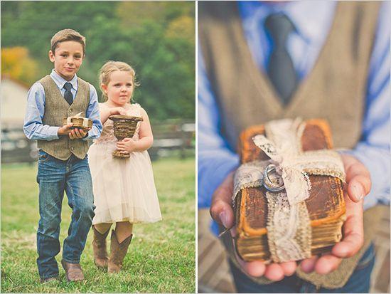 Ringbearer Ideas Girl And Boy Cowboy Ring Bearer Flower Girls