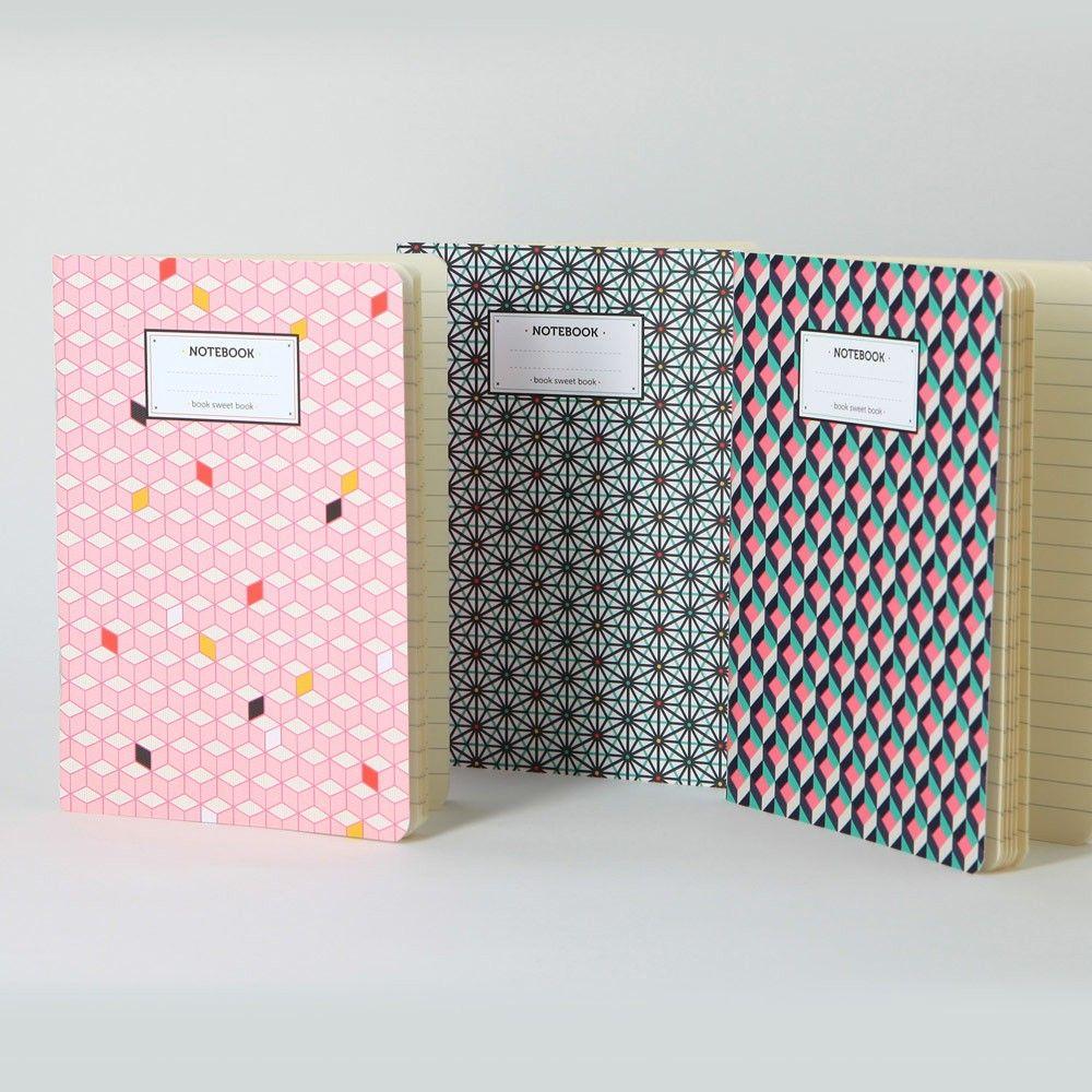 """Set de 3 Carnets collection """"Mix and Match"""" - La Marelle En Ligne"""