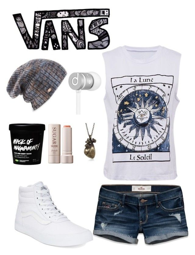 """Untitled #568"" by atrabiliousx on Polyvore featuring Vans, Hollister Co., Spacecraft, Beats by Dr. Dre and Fresh"