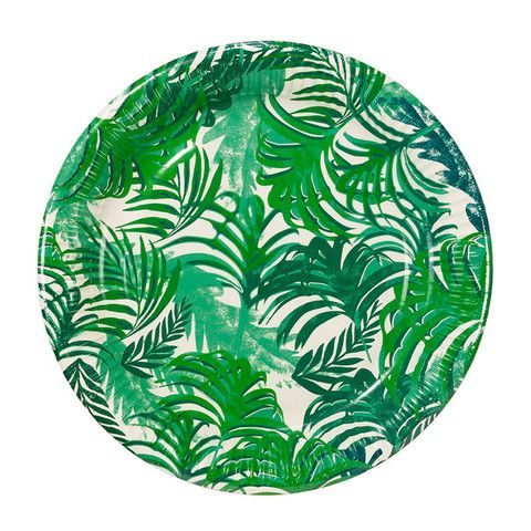 Fancy Frond Paper Plates  sc 1 st  Pinterest & Fancy Frond Paper Plates | Luau Themed parties and Tropical party