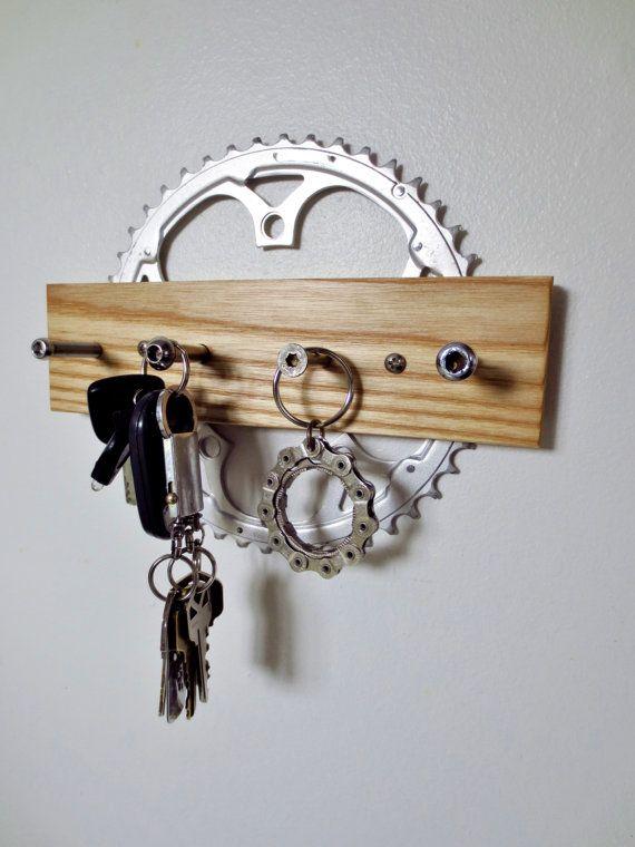 Porte clé, accessoires de vélo, recyclé vélo, Rack de laisse de chien, Sports, bicyclette bijoux