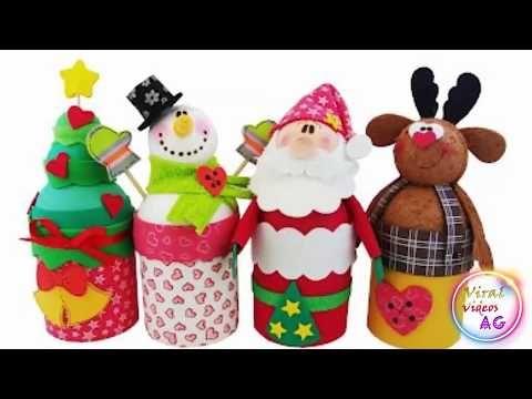 IDEAS PARA NAVIDAD - 4 Manualidades faciles - YouTube manualidades - manualidades para navidad