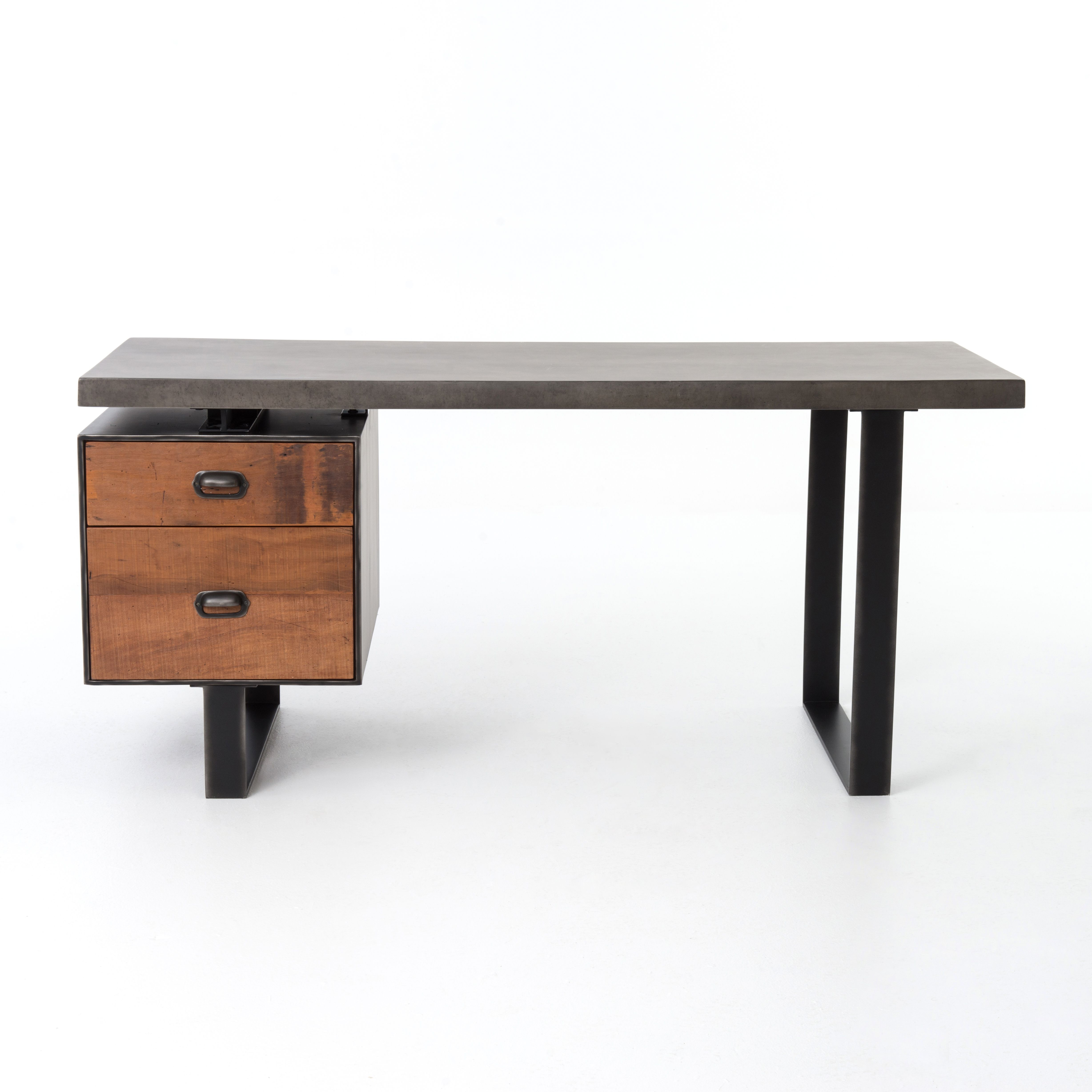 Four Hands Vbna Dk276 Home Office Clapton Desk With Images Desk With File Drawer Wood Desk Goods Home Furnishings