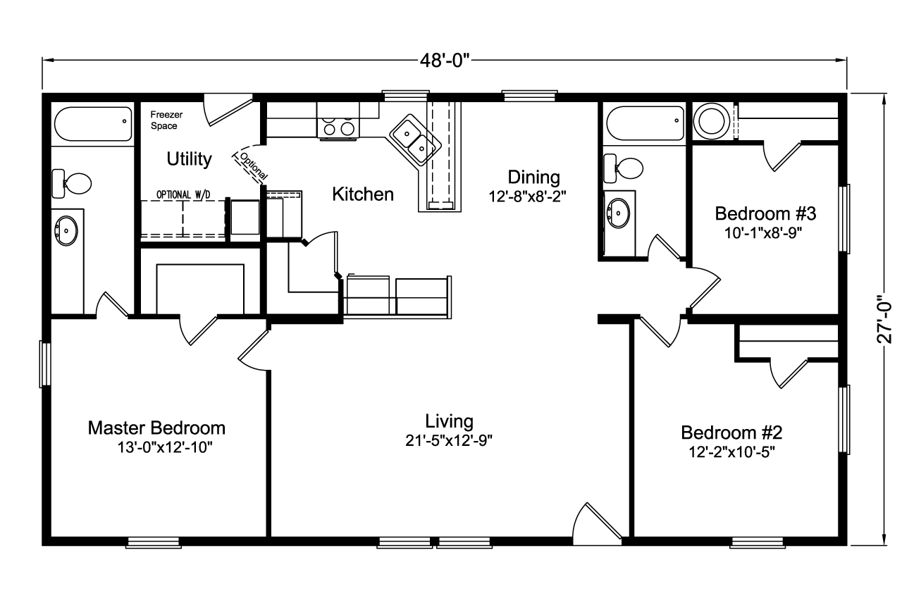 The factory select 4g28483x home floor plan manufactured for Select floor plans