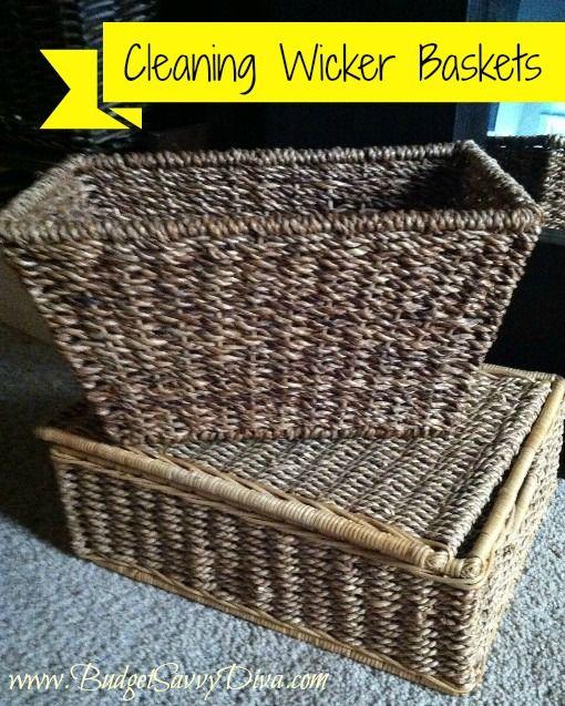 How To Clean Your Wicker Basket Cleaning Hacks Wicker Wicker Baskets