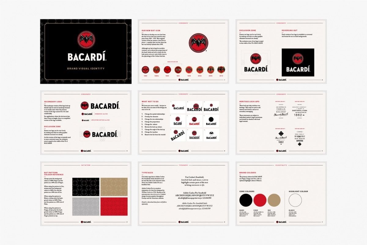 30 Brand Style Guide Examples To Inspire Yours Laura Busche Brand Style Guide Bacardi Brand Book