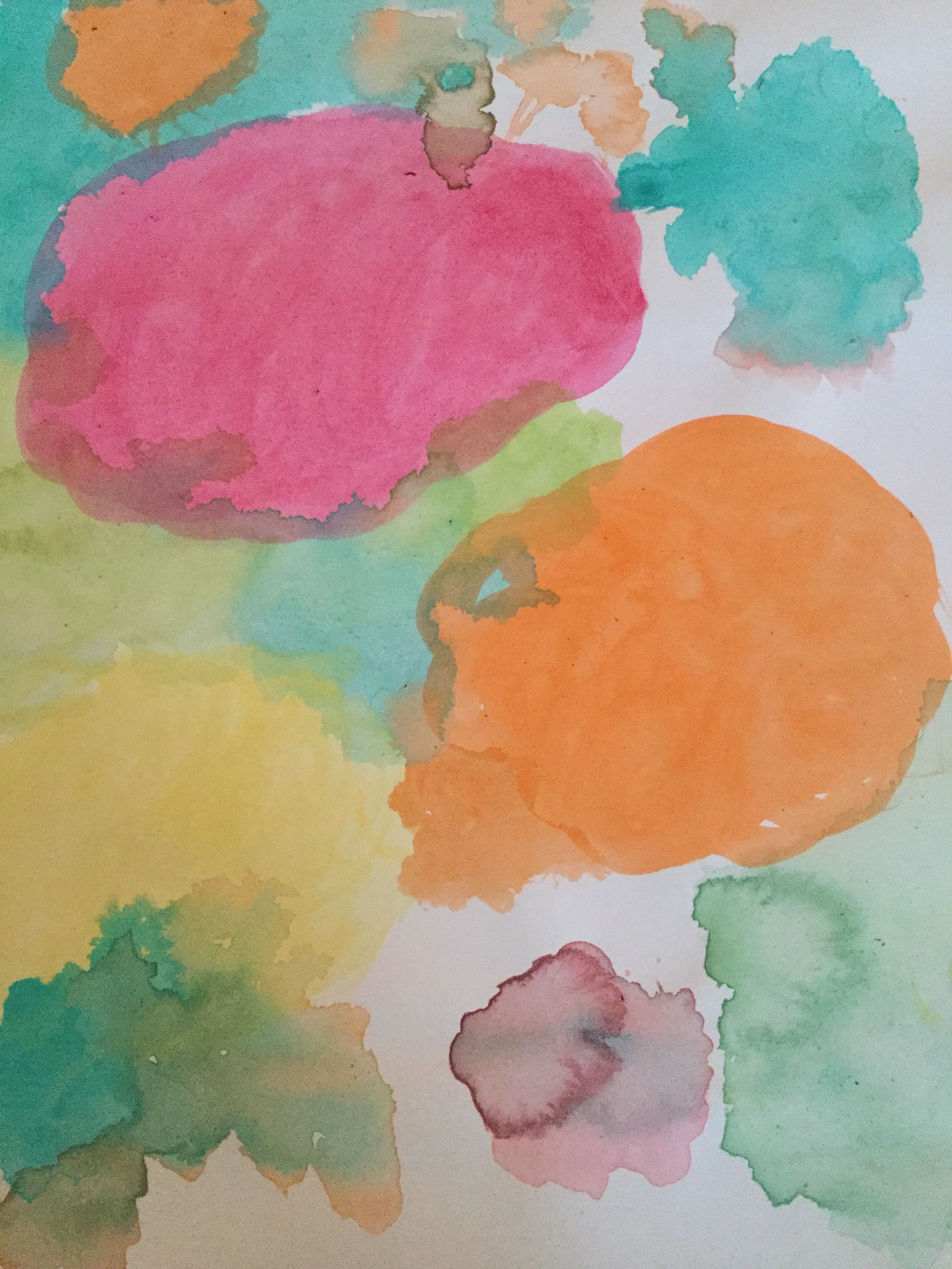 Watercolor Art I Just Used Acrylic Paint And Added Water