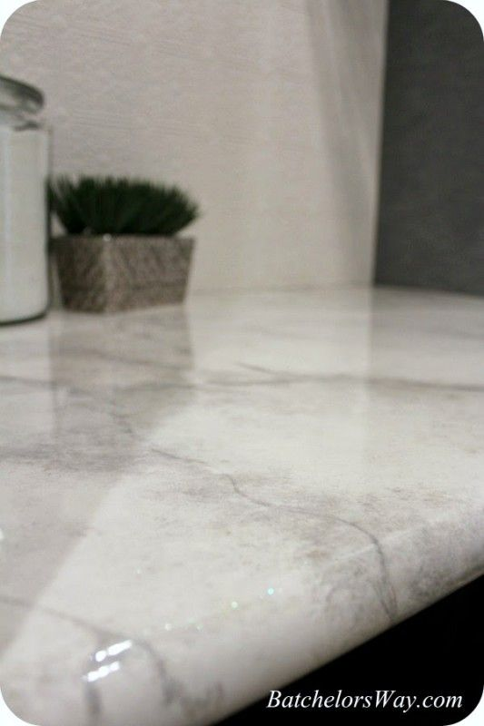 Remodelaholic 30 Diy Faux Marble Countertops Faux Marble