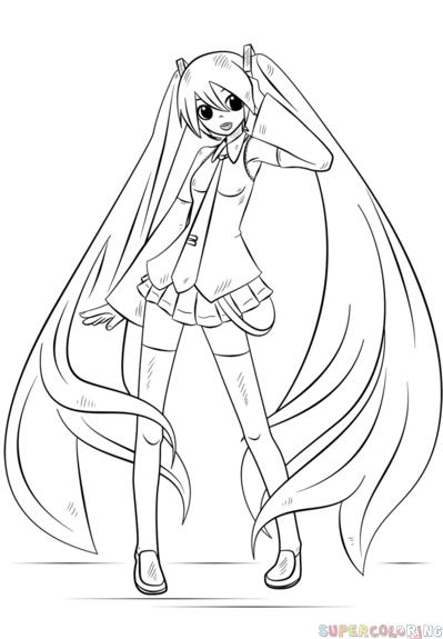 Dibujos De Miku Faciles Buscar Con Google Colorear Anime Tutorial De Dibujo De Figuras Tutoriales De Anime
