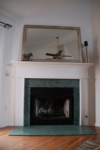 Marble Green Fireplace Makeover Fireplace Tile Surround Fireplace