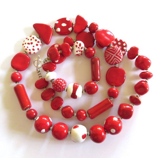 Kazuri+Beaded+Necklace+Ceramic+Necklace++Fair+by+lizbriggsdesigns