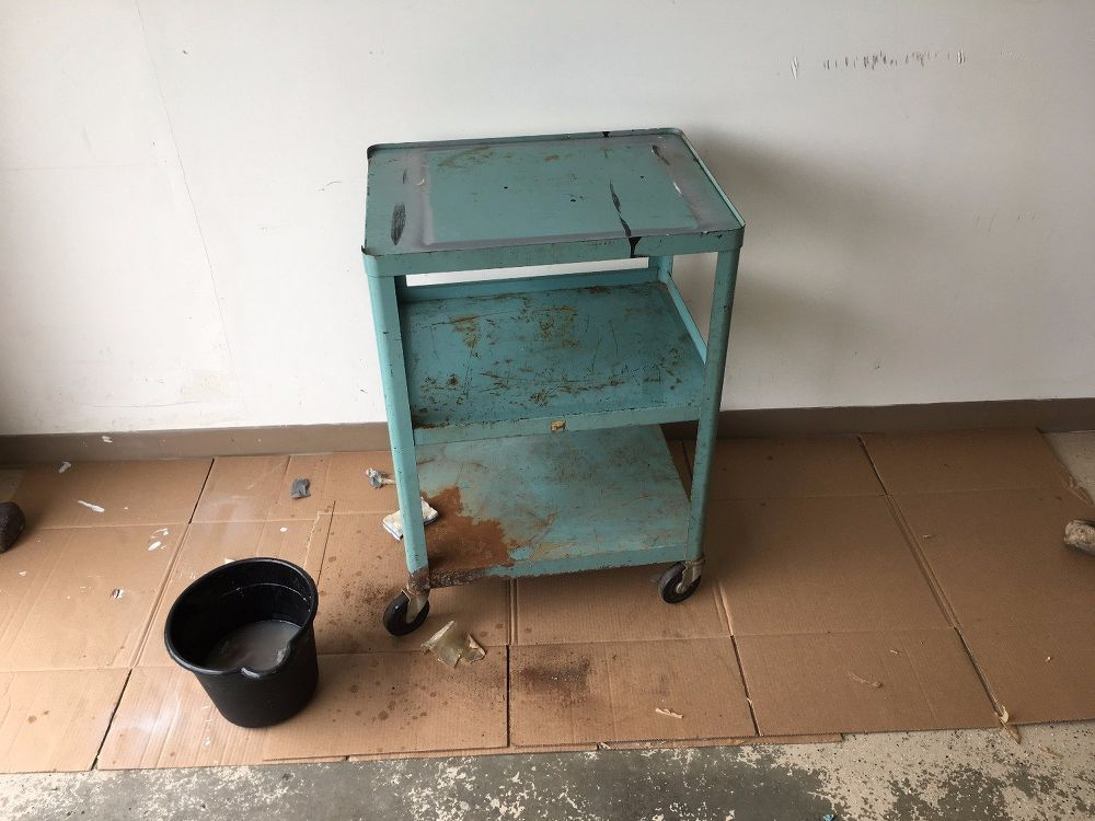 Trash Cart Turned Bar Cart Metal Cart Diy How To Make Diy