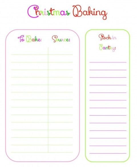Have An Organized Christmas With A Free Planner Holidays