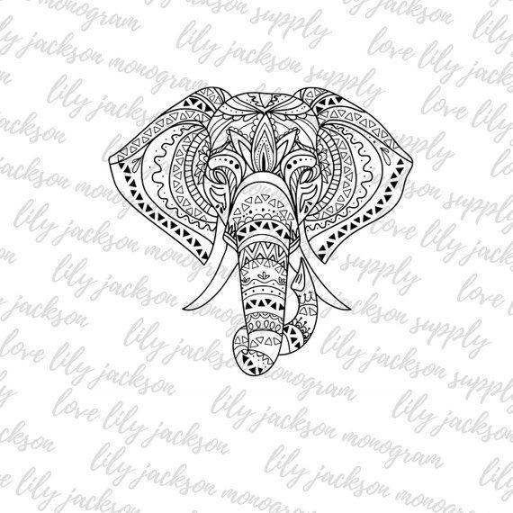 Tribal Elephant Cut File