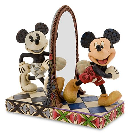 ''Then and Now'' Mickey Mouse Figurine by Jim Shore | Figurines & Keepsakes | Disney Store