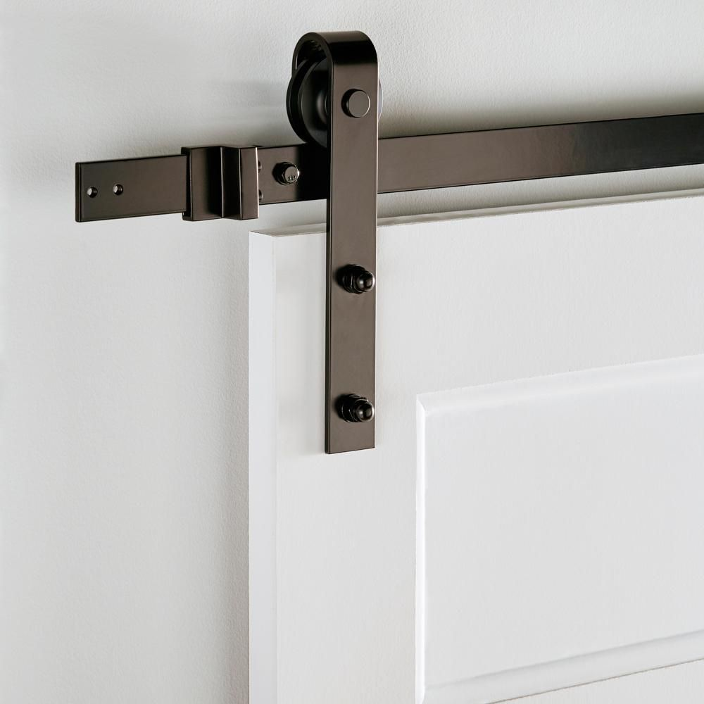 Everbilt Dark Oil Rubbed Bronze Decorative Sliding Door Hardware 14445 The Home Dep Sliding Door Hardware Track Sliding Door Hardware Sliding Barn Door Track